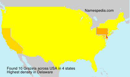 Surname Grazela in USA