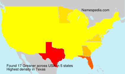 Surname Greaner in USA