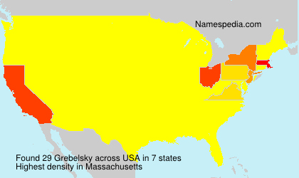 Surname Grebelsky in USA