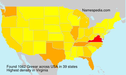Surname Greear in USA