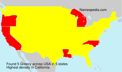 Surname Greecy in USA