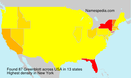Surname Greenblott in USA