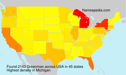 Surname Greenman in USA