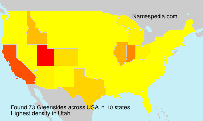 Surname Greensides in USA