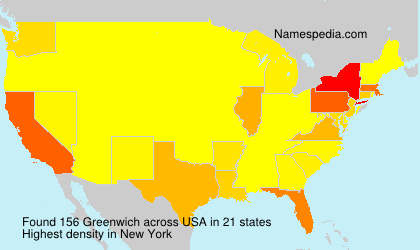 Surname Greenwich in USA