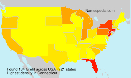 Surname Grehl in USA