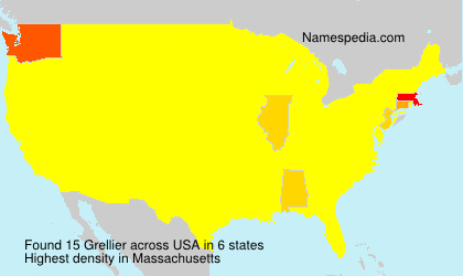 Surname Grellier in USA