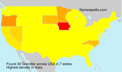Surname Grendler in USA