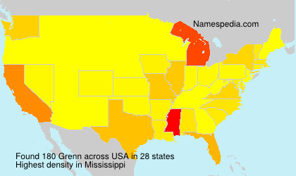 Surname Grenn in USA