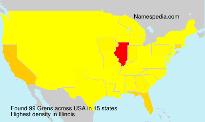 Surname Grens in USA