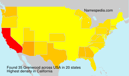 Surname Grenwood in USA