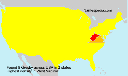 Surname Gresby in USA