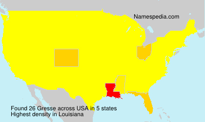 Surname Gresse in USA