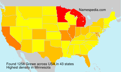 Surname Grewe in USA