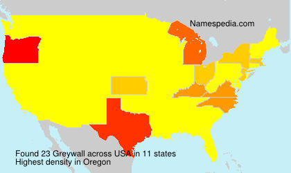 Surname Greywall in USA