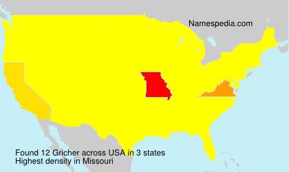 Surname Gricher in USA