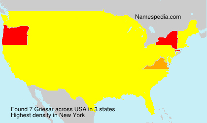 Surname Griesar in USA