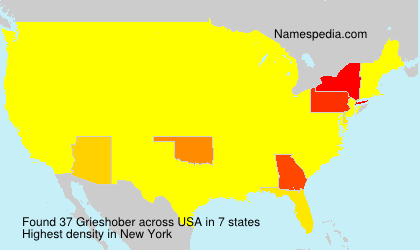 Surname Grieshober in USA