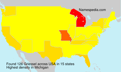 Surname Griessel in USA