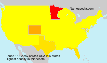 Surname Griesy in USA
