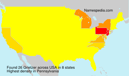 Surname Grietzer in USA
