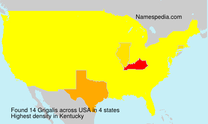 Surname Grigalis in USA