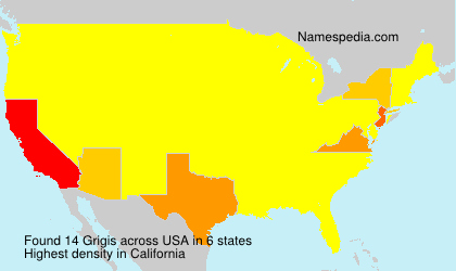 Surname Grigis in USA
