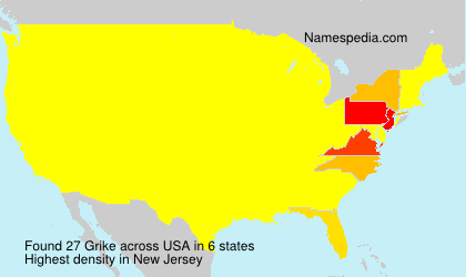 Surname Grike in USA