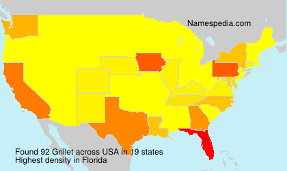 Surname Grillet in USA