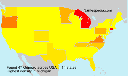 Surname Grimord in USA