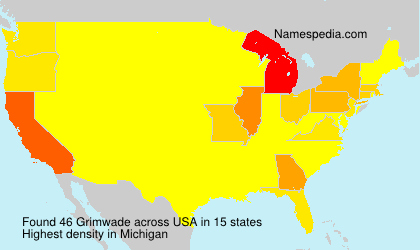 Surname Grimwade in USA