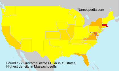 Surname Grochmal in USA