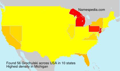 Familiennamen Grochulski - USA