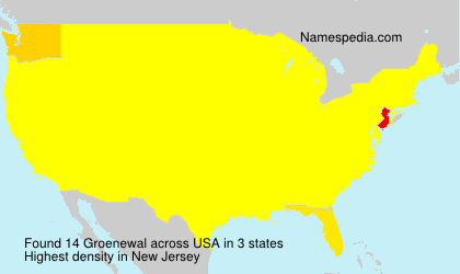Familiennamen Groenewal - USA