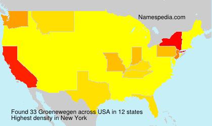 Surname Groenewegen in USA