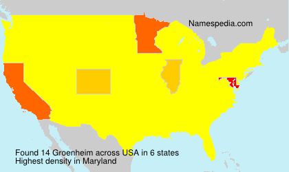 Surname Groenheim in USA