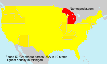 Surname Groenhout in USA