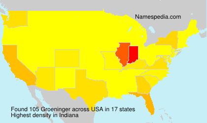 Surname Groeninger in USA