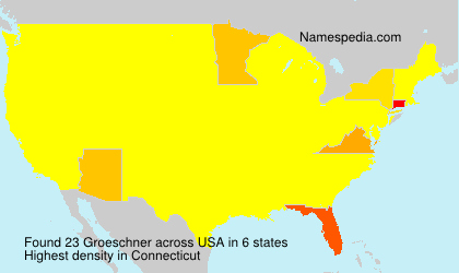 Surname Groeschner in USA