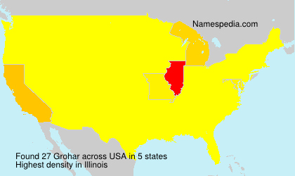 Surname Grohar in USA