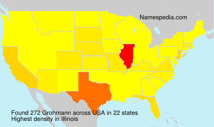Surname Grohmann in USA