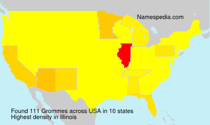 Surname Grommes in USA