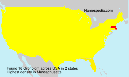 Surname Gronblom in USA