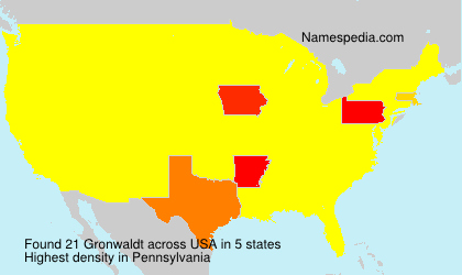 Surname Gronwaldt in USA