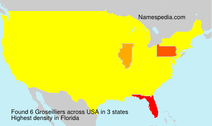 Surname Groseilliers in USA