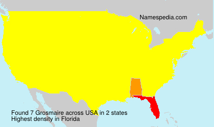 Surname Grosmaire in USA