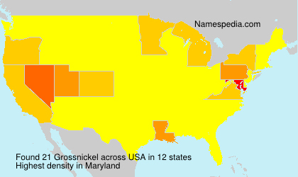 Surname Grossnickel in USA