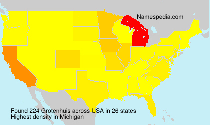 Surname Grotenhuis in USA