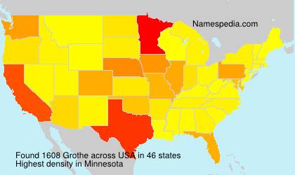 Surname Grothe in USA