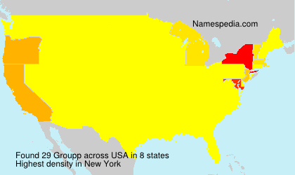 Surname Groupp in USA